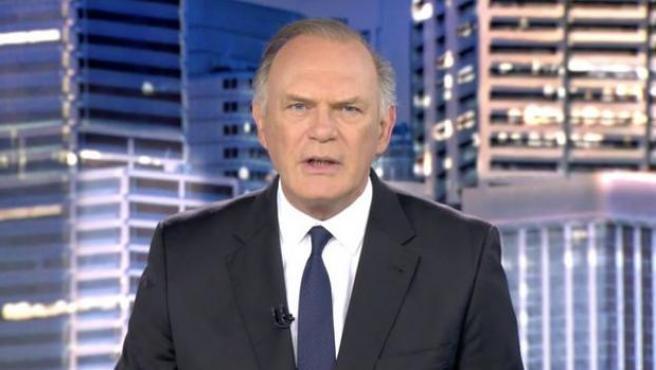 Pedro Piqueras en 'Informativos Telecinco'.