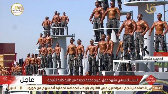 Desfile de graduación de la Policía de Egipto.