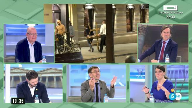 Rafael Hernando, Macarena Olona, José Zaragoza, Juan Carlos Monedero y Grabriel Rufían en 'AR'.