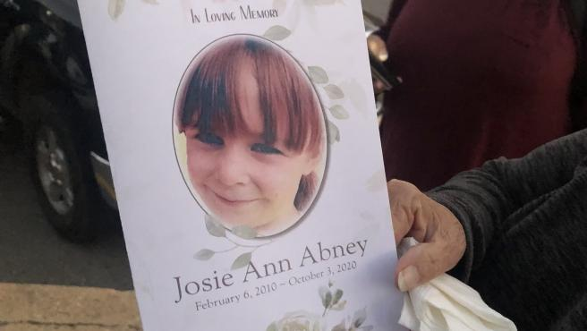 Josie Ann Abney murió a los 10 años.