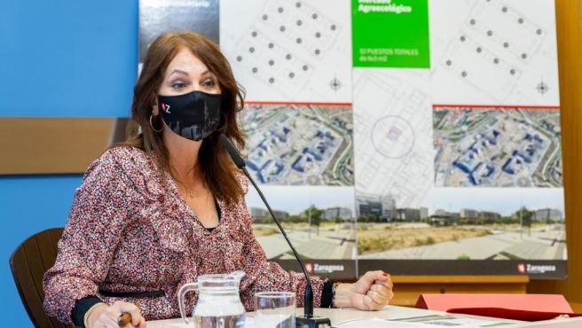 La consejera de Economía, Innovación y Empleo del Ayuntamiento de Zaragoza, Carmen Herrarte