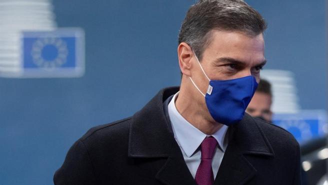 El presidente del Gobierno, Pedro Sánchez, en una cumbre de la UE en Bruselas este 16 de octubre.