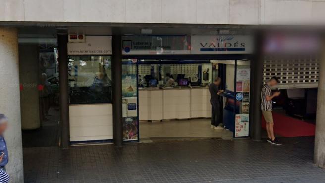 Administración de Loterías ubicada en la Rambla de Barcelona.