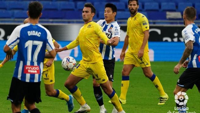 Una imagen del encuentro que el Alcorcón disputó ante el Espanyol.