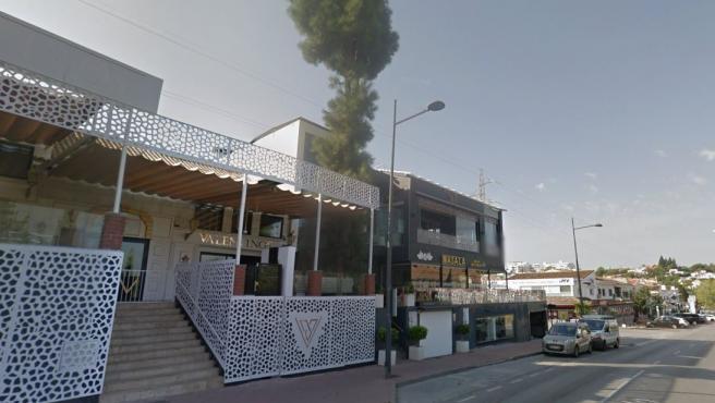 Imagen de archivo de una zona de bares de la avenida del Prado, en Marbella.