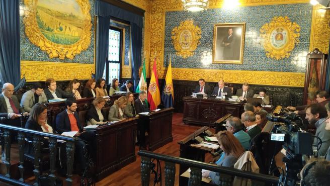 Plenon del Ayuntamiento de Algeciras (Foto de archivo).