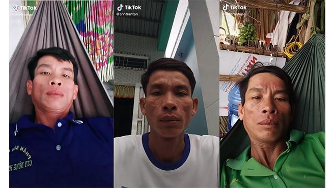 Anh Tran Tan en alguno de sus vídeos de TikTok.