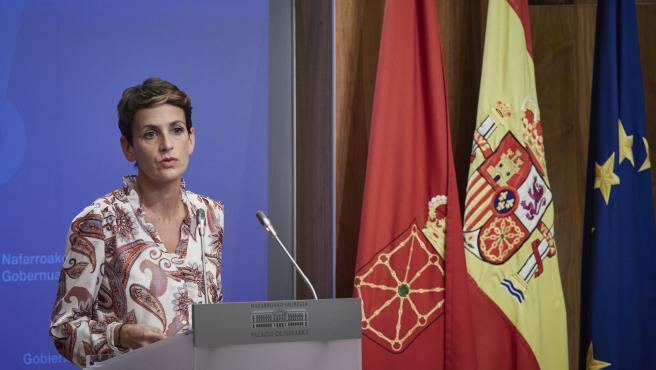 La presidenta del Gobierno de Navarra, María Chivite