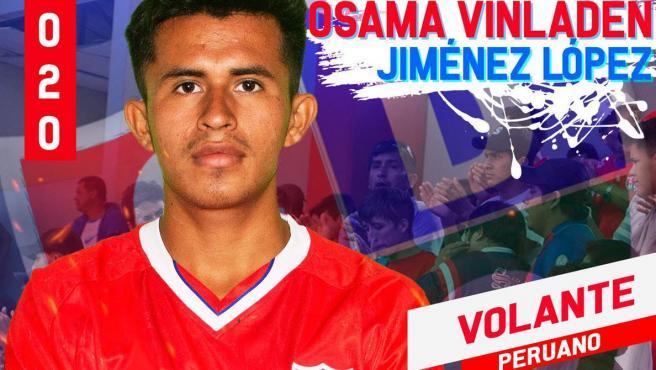 El futbolista peruano Osama Vinladen Jiménez López.