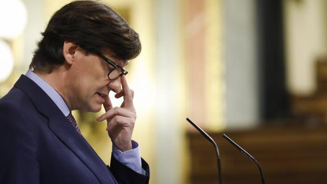 ***POOL CONGRESO DE LOS DIPUTADOS*** Madrid. 15/10/2020 . Comparecencia del ministro de Sanidad, Salvador Illa, en el Pleno del Congreso de los Diputados. POOL/Bernardo Díaz.