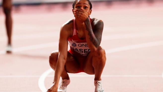 La campeona mundial de los 400 metros.