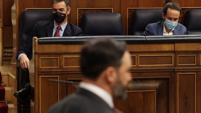 Mocion.- Abascal acusa a Sánchez de 'mentir sin escrúpulo' para caricaturizar a