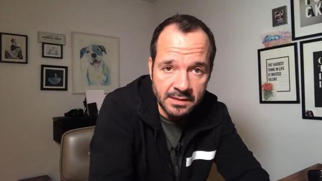 Ángel Martín, en su informativo matinal.