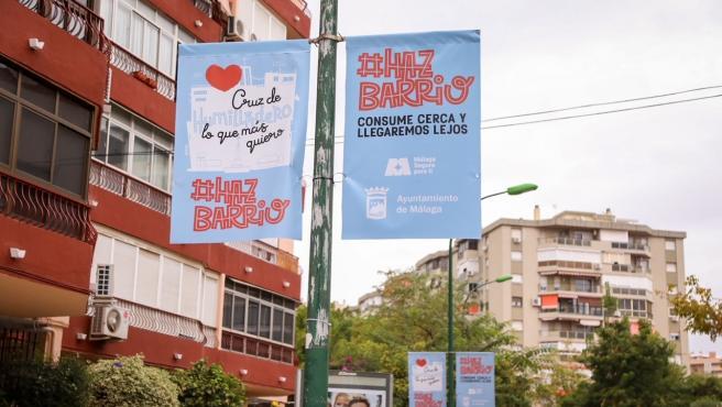 Campaña de incentivos del Ayuntamiento de Málaga en Cruz del Humilladero