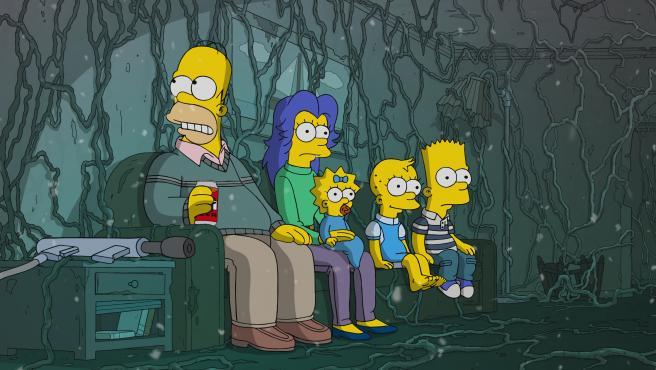 Una imagen de la temporada número 31 de Los Simpson.