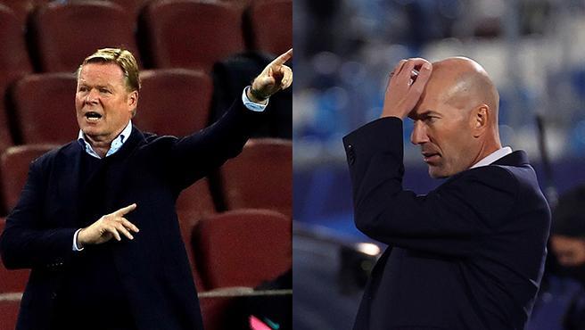 Ronald Koeman y Zinedine Zidane