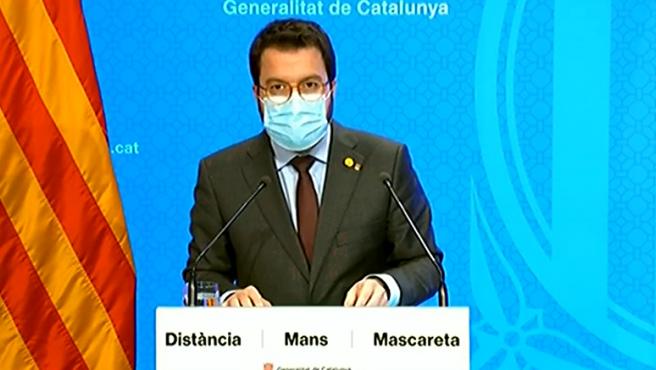 Pere Aragonés pide el estado de alarma a Sánchez.
