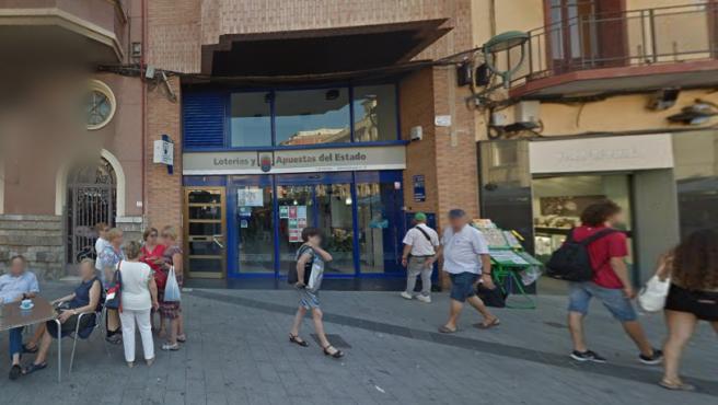 Imagen de la administración de loterías número 21 de Tarragona.
