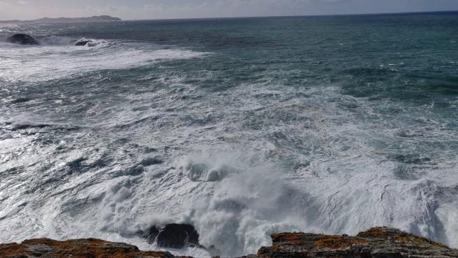Temporal en la costa gallega por fuerte oleaje y viento