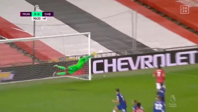El portero 'Blue' dejó acciones espectaculares ante el Manchester United.