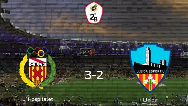 El L´Hospitalet gana 3-2 al Lleida Esportiu y se lleva los tres puntos