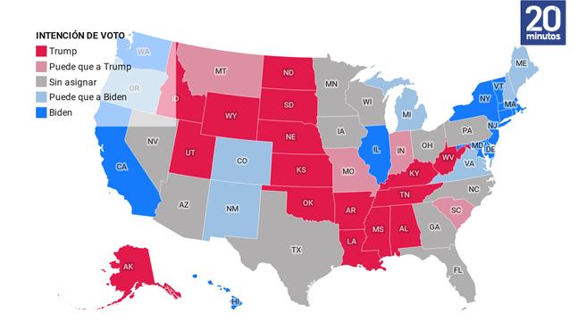 Encuestas en EE UU, actualizado a 26 de octubre.