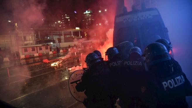 Disturbios en varias ciudades italianas