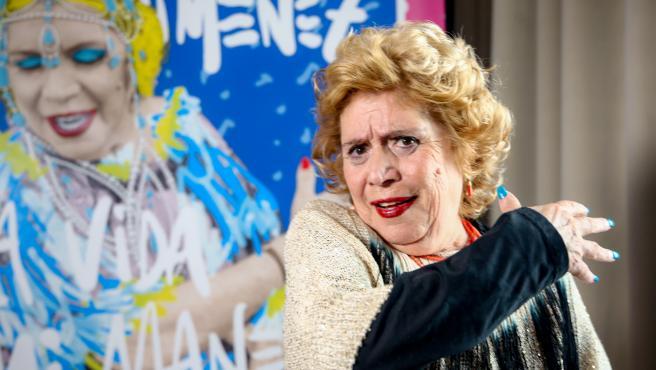 La cantante María Jiménez durante una entrevista.