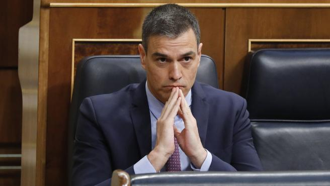 Pleno de sesion de control al Gobierno en el Congreso de los Diputados, con la asistencia del Presidente del Gobierno Pedro Sanchez. 24/06/2020. Foto Javi Martinez/Pool.