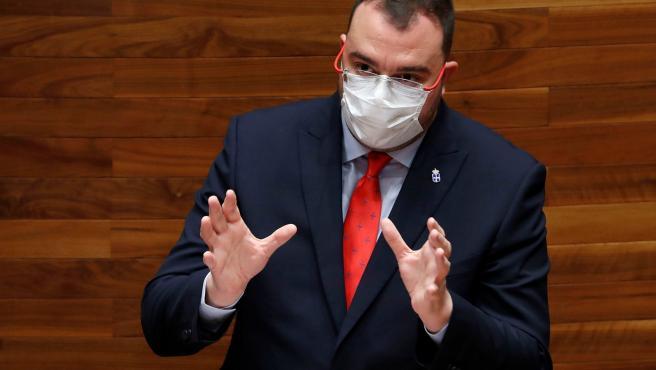 El presidente del Principado de Asturias, el socialista Adrián Barbón