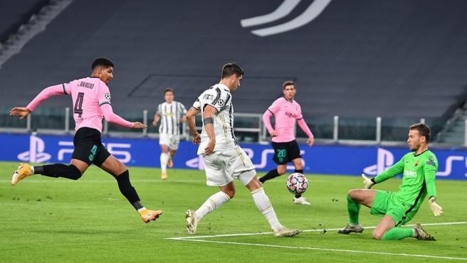 Morata, en el partido ante el Barça.