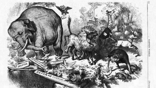 El elefante del Partido Republicano de los Estados Unidos.