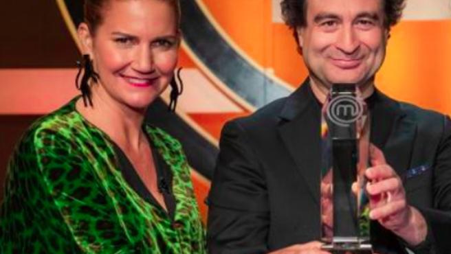Samantha Vallejo-Nágera y Pepe Rodríguez en 'MasterChef'.