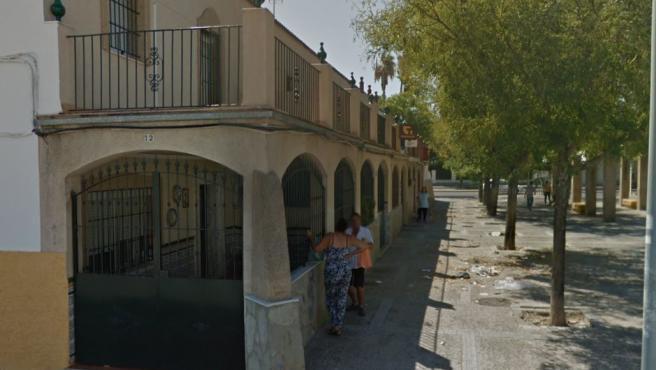 Imagen de la plaza San Rafael de Jerez, donde se ubica la administración de Loterías.