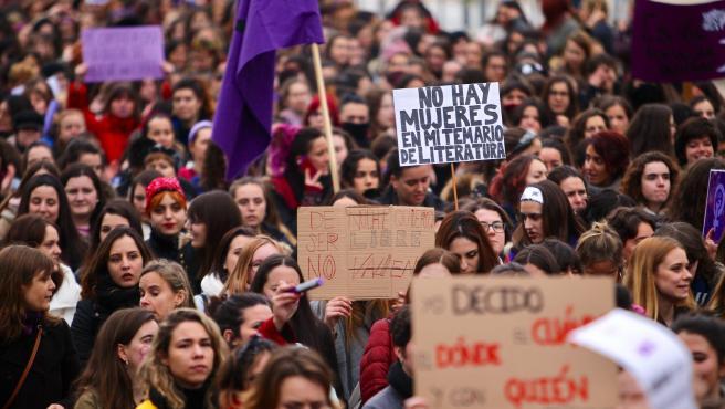 Manifestación del 8 de marzo de 2018 en Madrid.