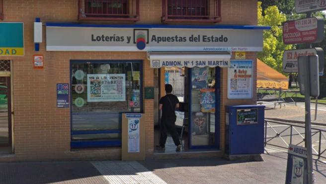 Administración de Loterías de San Martín de la Vega, Madrid.