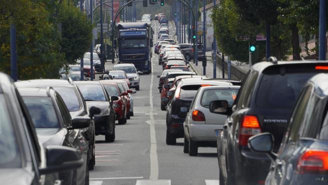 Cierre perimetral Santiago - Covid 19 - atasco tráfico salida ciudad hacie el sur