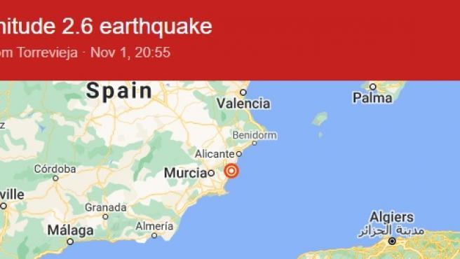 El primero de los terremotos de la noche