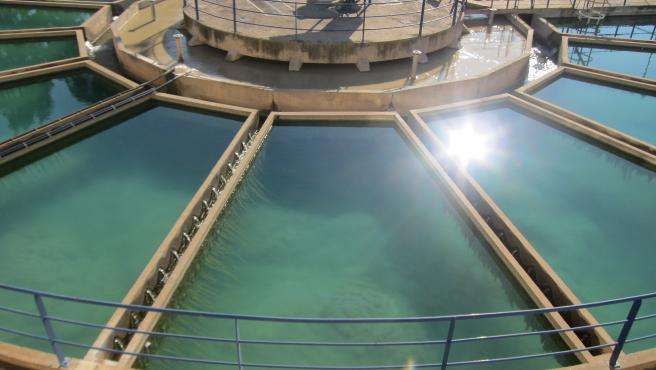 Depósito de agua, vista aérea