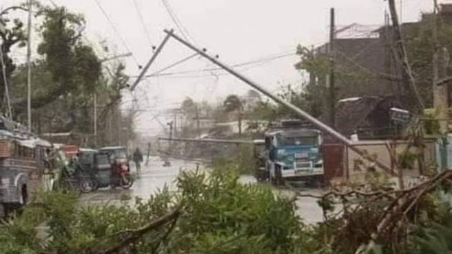 Destrozos que ha dejado el paso del huracán ETA