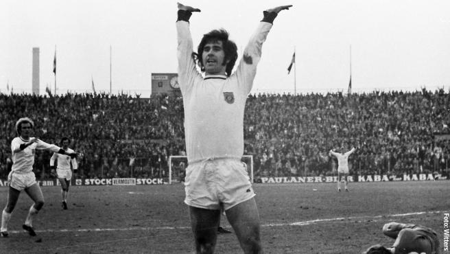 Gerd 'Torpedo' Muller, en un partido con Alemania Federal.