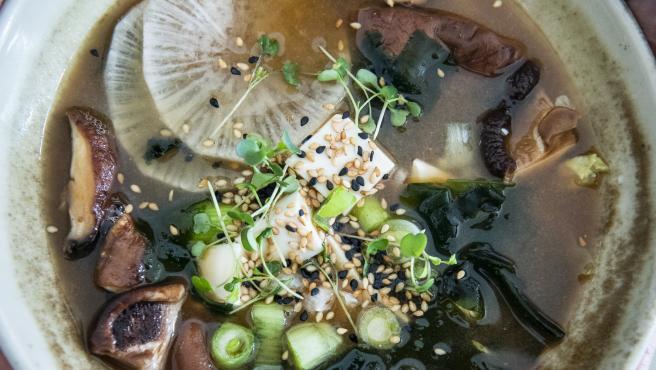 Uno de los platos de The Green Spot