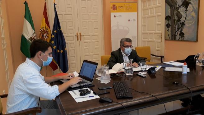 Carlos Toscano, en la reunión del Cecor
