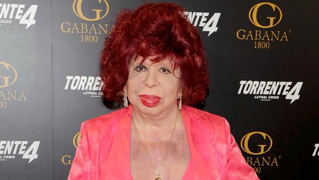 Carmen de Mairena en la premier de 'Torrente 4'.