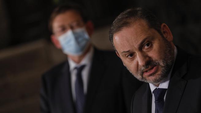 El Ministre de Transports, Mobilitat i Agenda Urbana, José Luis Ábalos, intervé en la presentació del projecte de Pressupostos Generals de l'Estat 2021 corresponents al seu Departament destinats a la Comunitat Valenciana