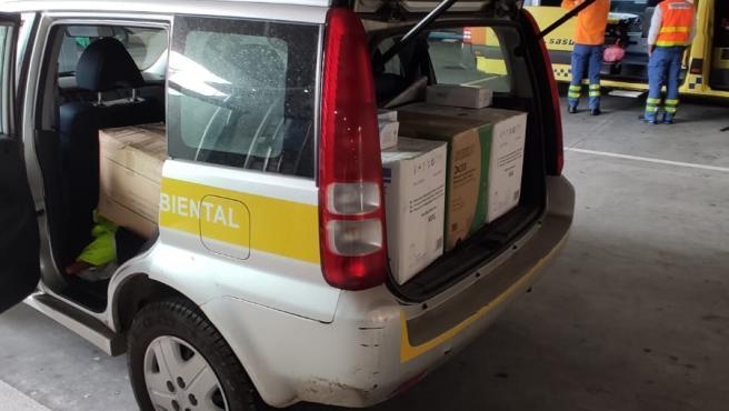 Equipos de protección contra el coronavirus entregados al Chuac