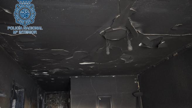 Sucesos.-Detenidos los presuntos autores del incendio del piso de Montequinto que ardió dos veces en octubre