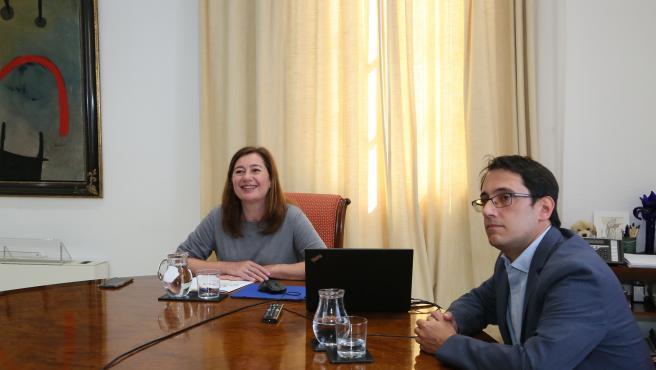 Armengol y Negueruela abordan con el sector hotelero la reactivación del turismo