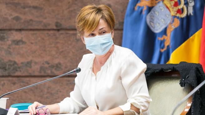 La rectora de la ULL, Rosa Aguilar, interviene en una comisión parlamentaria