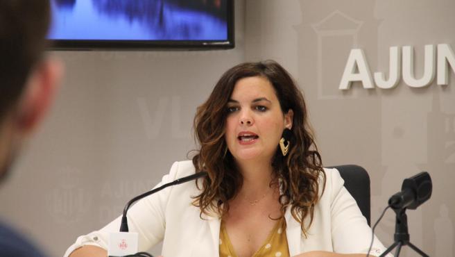 La vicealcaldesa de València y portavoz socialista en su ayuntamiento, Sandra Gómez.